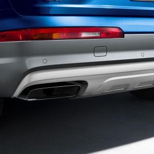 Нижняя часть заднего бампера Audi Q7 (4M), для автомобилей с системой помощи при парковке
