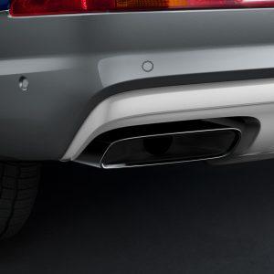 Спортивные насадки на выхлопную трубу Audi Q7 (4M), для автомобилей с двигателем 3.0 TFSI и одинарной выхлопной трубой, левой/правой, черные
