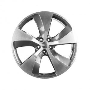 Алюминиевый литой диск R21 в 5-спицевом дизайне Audi, Anthracite / Polished, 9,5J x 21 ET31