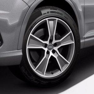 Алюминиевый литой диск R20 в 5-спицевом дизайне Audi, Anthracite, 9,0J x 20 ET33