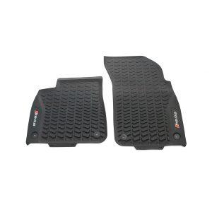 Резиновые передние коврики Audi Q8, контрастная надпись RSQ8