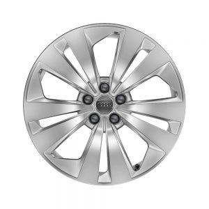Алюминиевый литой диск R19 5 двойных спиц Audi, Brilliant Silver, 8,5J x 19 ET20