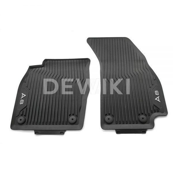 Резиновые передние коврики Audi A8/S8 (4N/D5), контрастная надпись