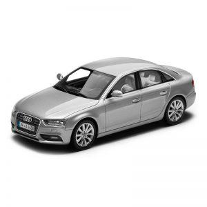 Модель в миниатюре Audi A4, Ice silver, масштаб 1:43