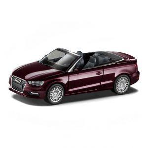 Модель в миниатюре Audi A3 Cabriolet, Shiraz Red, масштаб 1:87
