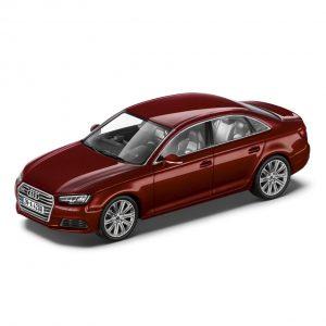 Модель в миниатюре Audi A4, Matador red, масштаб 1:43