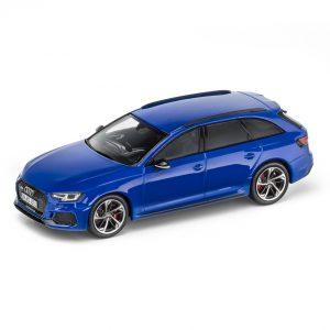 Модель в миниатюре Audi RS4 Avant, Nogaro blue, масштаб 1:43