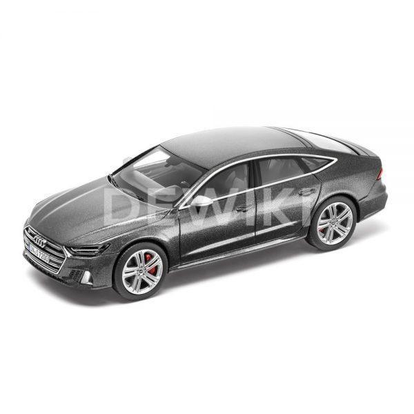 Модель в миниатюре Audi S7 Sportback limited 2019, Daytona Grey, масштаб 1:43