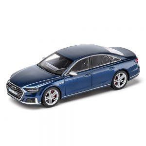 Модель в миниатюре Audi S8 limited 2019, Navarra Blue, масштаб 1:43