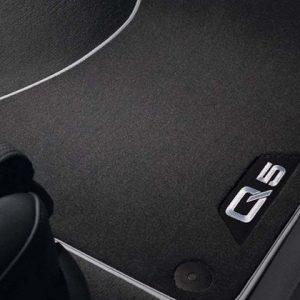 Велюровые передние коврики Audi Q5 (8R), контрастная надпись
