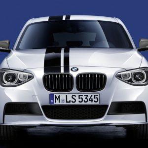 Передняя накладка BMW M Performance черного матового цвета F21/F20 1 серия