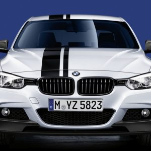 Передняя накладка BMW M Performance черного матового цвета F30/F31 3 серия