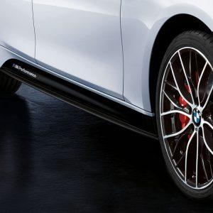 Боковые облицовки порогов левые черного матового цвета BMW M Performance F30/F31 3 серия
