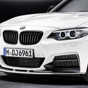Передняя накладка BMW M Performance черного матового цвета F22 2 серия