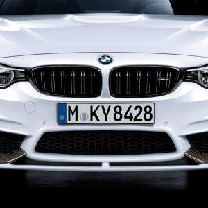 Передняя накладка BMW M Performance черного матового цвета F80/F83/F82 M3 и M4