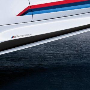 Боковые облицовки порогов слева BMW M Performance черного матового цвета F83/F82 M4
