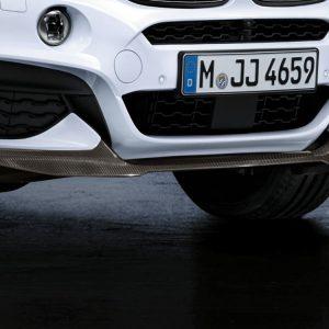 Передняя карбоновая накладка BMW M Performance F16 X6