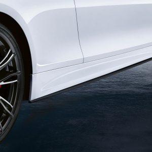 Боковые облицовки порогов справа BMW M Performance черного матового цвета F32/F33/F36 4 серия