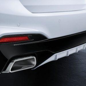 Задний диффузор BMW M Performance черного матового цвета G30/G31 5 серия