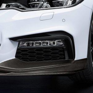 Карбоновые накладки переднего бампера BMW M Performance слева/справа G30/G31 5 серия
