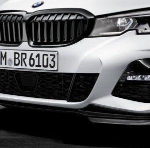 Сплиттер переднего бампера M Performance для BMW G20 3-серия