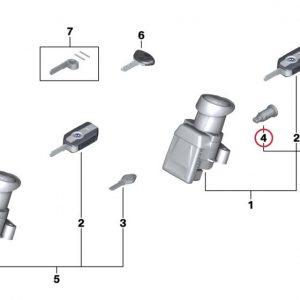 Ремонтный набор для багажного отделения мотоцикла с запорным цилиндром и  /или боковыми кофрами BMW