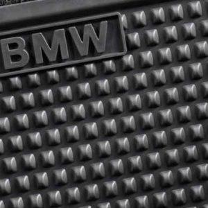 Резиновые задние коврики BMW F07 5 серия, Black
