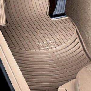 Резиновые передние коврики BMW F10/F11 5 серия, Беж.