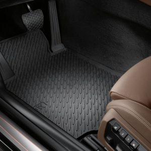 Резиновые передние коврики BMW F12/F13/F06 6 серия, Black