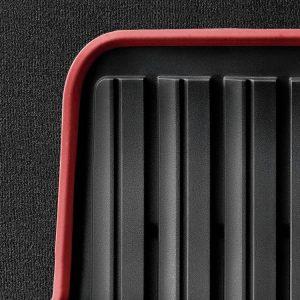Резиновые задние коврики BMW F45 2 серия, Black/Red