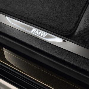 Накладки на пороги BMW со светодиодной подсветкой, F15/F85/F16/F86 X5 и X6