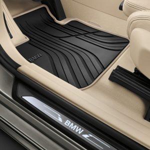Резиновые передние коврики BMW F20/F21/F22/F23/F87 1 и 2 серия, Anthracite/Beige