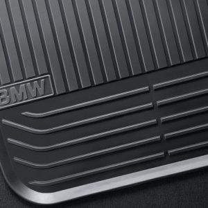 Резиновые задние коврики BMW F12/F13/F06 6 серия, Black
