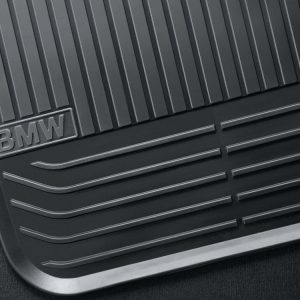 Резиновые задние коврики BMW F02/F04 7 серия, Black - после 2012 г.в.