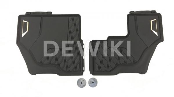 Резиновые  коврики для 3-го ряда 7 мест BMW X7 G07, Anthracite