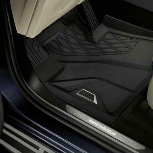 Резиновые передние коврики высокие BMW X5 G05/ X7 G07, Anthracite