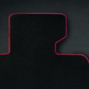 Комплект велюровых ковриков в салон BMW E84 X1, Anthracite/Coral red