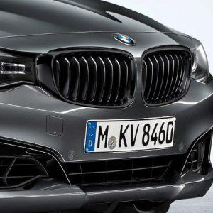 Передняя левая решетка радиатора BMW M Performance F34 3 серия, Black