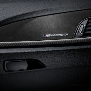 Декоративные планки BMW M Performance из карбона с алькантарой BMW Performance F21/F22/F87 1 и 2 серия