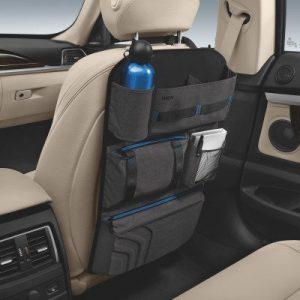 Сумка для спинки сиденья BMW , anthracite/blue