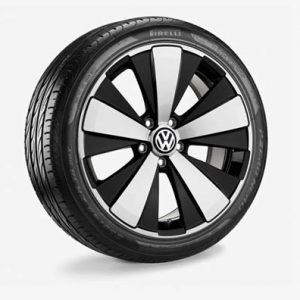 Летнее колесо в сборе VW Beetle NF в дизайне Twister, 235/45 R18 98 Y XL, Black, 8.0J x 18 ET48