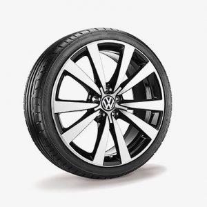Летнее колесо в сборе VW Beetle NF в дизайне Tornado, 235/40 R19 96W XL, Black, 8.0J x 19 ET62