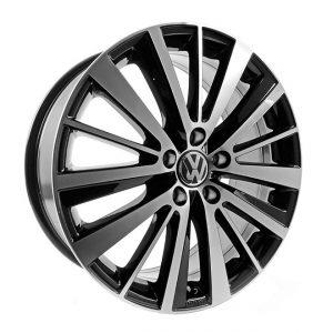 Диск литой R18 Volkswagen, Preston Black Glossy, 7,5J x 18 ET51