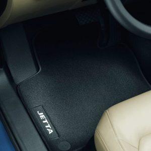 Коврики в салон Volkswagen Jetta 6, текстильные Premium передние и задние, черные