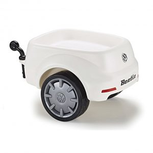 Прицеп к детскому автомобилю Volkswagen Junior Beetle, White