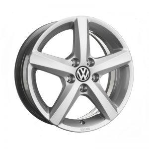 Диск литой R15 Volkswagen Golf 7, Aspen Brilliant Silver, 6J x 15 ET43