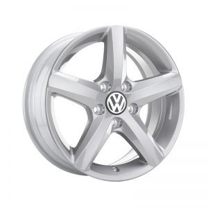 Диск литой R16 Volkswagen Golf 7, Aspen Brilliant Silver, 6J x 16 ET48