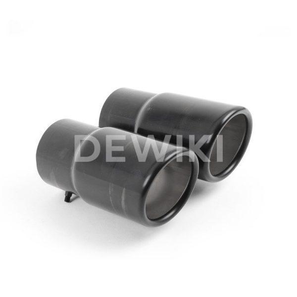 Насадка для заднего глушителя Volkswagen Passat / Tiguan, парные черные 70 мм