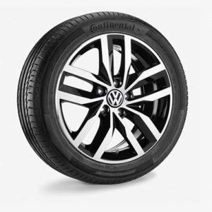 Летнее колесо в сборе VW Golf в дизайне Madrid,  225/45 R17 91W, Black, 7.0J x 17 ET49