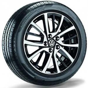 Летнее колесо в сборе VW Golf в дизайне Blade,  225/45 R17 91Y XL, Black, 7.0J x 17 ET49